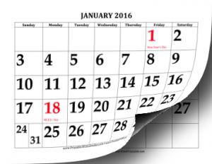 Printable 2016 calendars