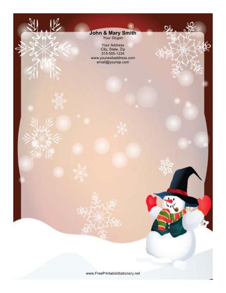 New Free Printable Christmas Stationery