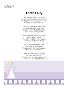 New Printable Letters From The Tooth Fairy