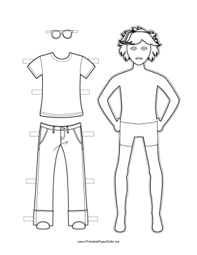 large paper doll template - paper dolls to print and color