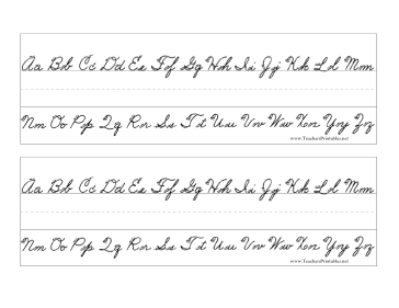 Cursive Printables   My Blog