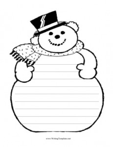 Snowman_Writing_Template