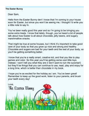 Easter Bunny Letter Template Each letter, craft or game can Bunny ...
