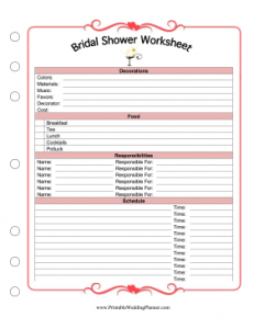 Printables Wedding Planner Worksheets wedding planning worksheets abitlikethis worksheet free excel template planner bridal shower worksheet