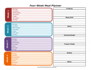 Four_Week_Meal_Planner_with_Grocery_List