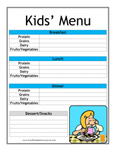 Kid_Daily_Menu_Planner
