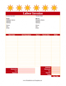 Cute_Labor_Invoice