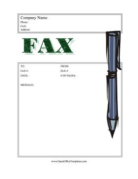 libreoffice fax template