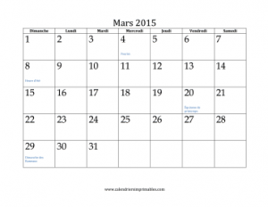 Printable French Calendars