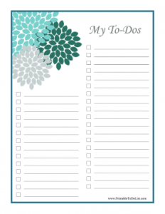 graphic about Printable to Do Lists for Work identify Printable In the direction of-Do Lists Totally free Printables