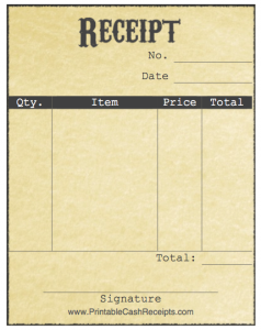 printable cash receipts free printables