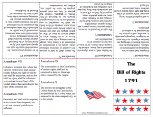 photo relating to Bill of Rights Printables named Cost-free Printable Consution; Founding Information No cost