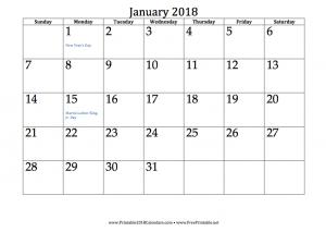 free printable 2018 calendars free printables