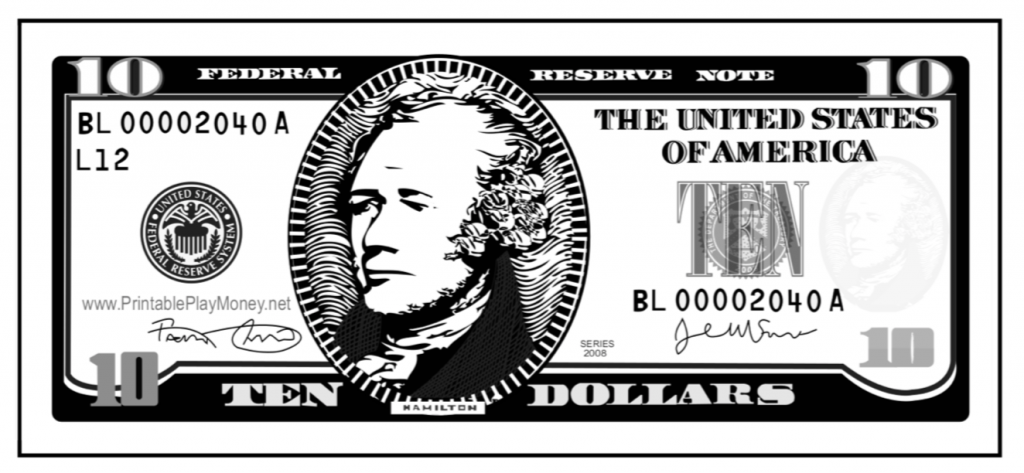 photo about Printable Play Money Black and White identify Printable Perform Economic and Cash Totally free Printables
