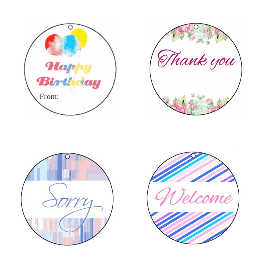 photo relating to Printable Round Tags identified as Absolutely free Printable Present Tags for All Scenarios Absolutely free Printables