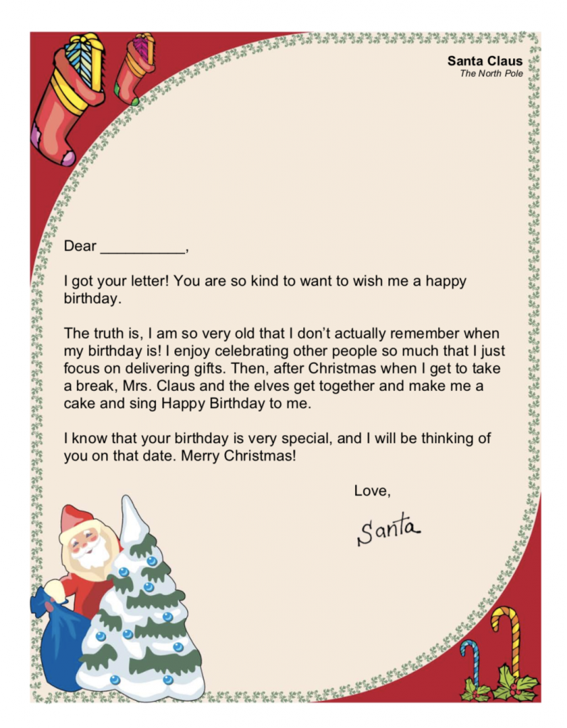 Letters From Santa Free Printables